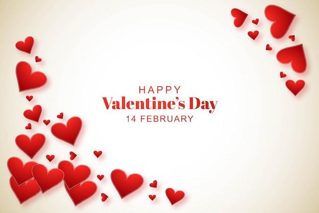 Beautiful valentine's day invitation background Free Vector