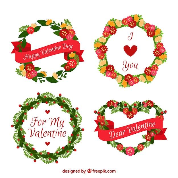 Beautiful valentine wreath collection