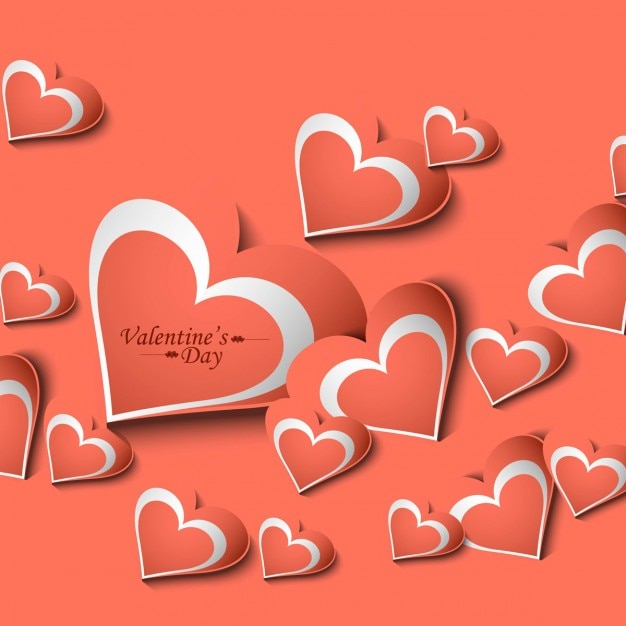Beautiful valentines day card Vector – Beautiful Valentine Day Cards