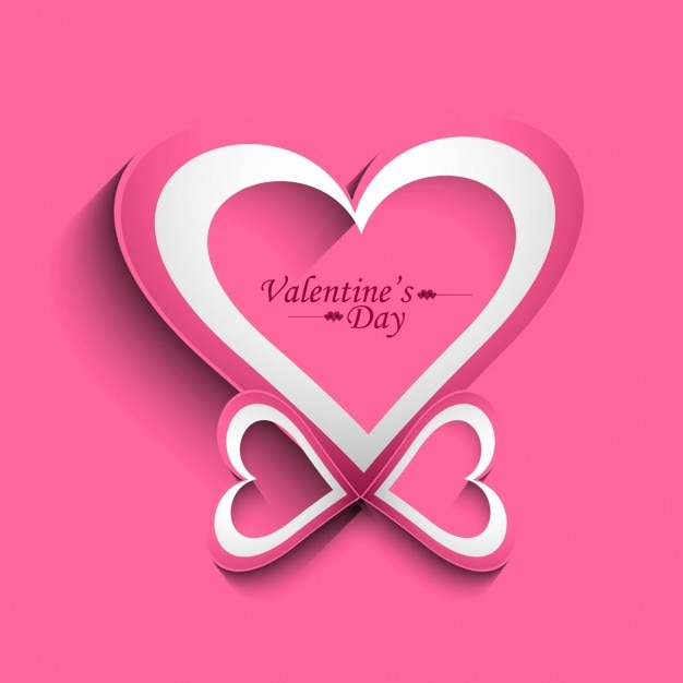 beautiful valentines day greeting vector free download
