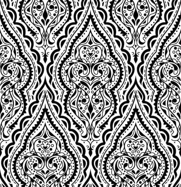 Beautiful vector damask seamless pattern Premium Vector