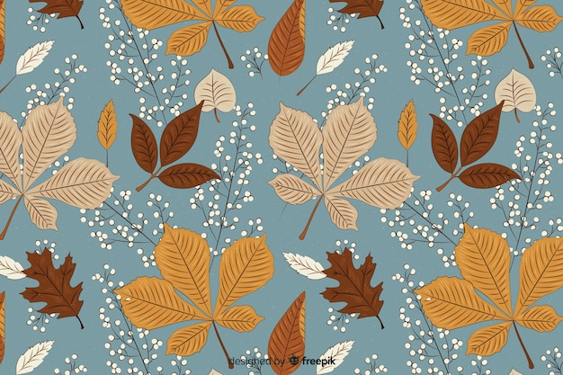 Beautiful vintage autumn background Free Vector