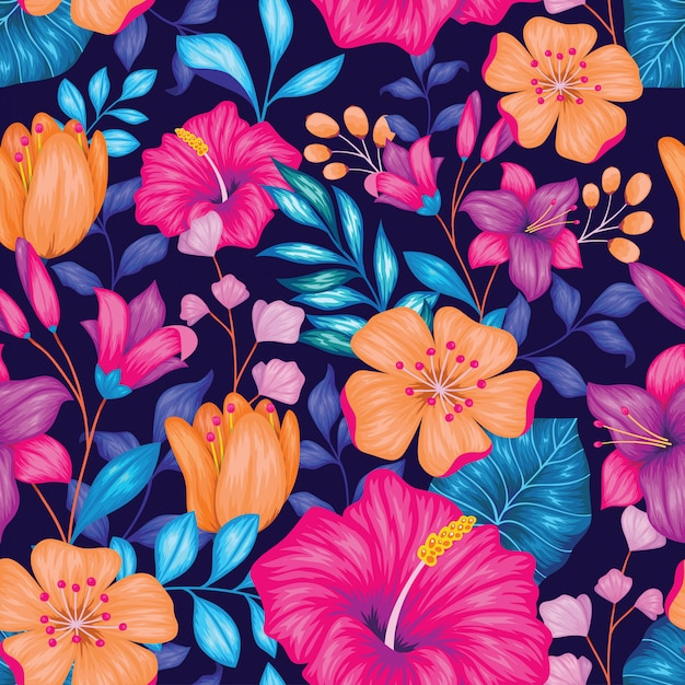 Beautiful vintage floral seamless pattern Premium Vector