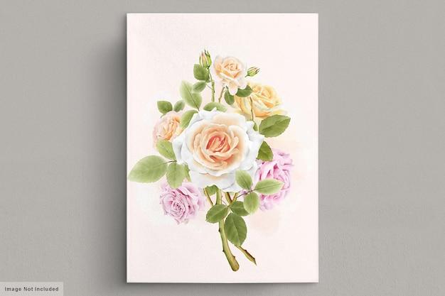 아름 다운 빈티지 손으로 그린 장미 그림 무료 벡터