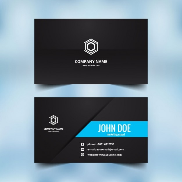 Beautiful visiting card design Vector : Free Download