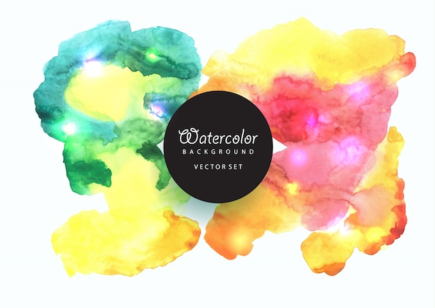 Beautiful watercolor background in bright colors