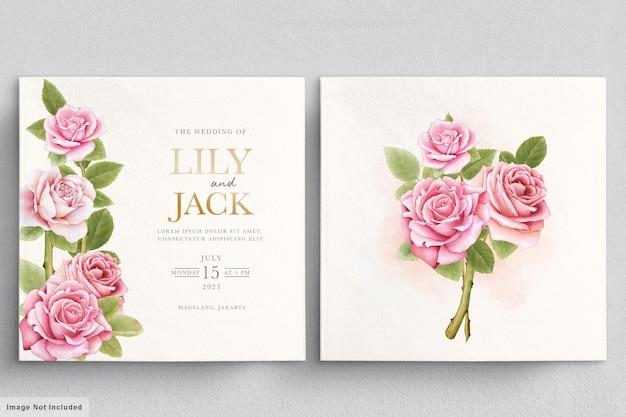 Красивый акварельный букет роз Бесплатные векторы
