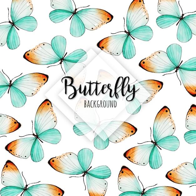 Premium Vector   Beautiful watercolor butterflies background
