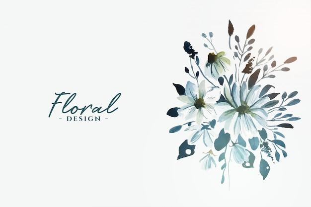 装飾的な美しい水彩画の花の花 無料ベクター