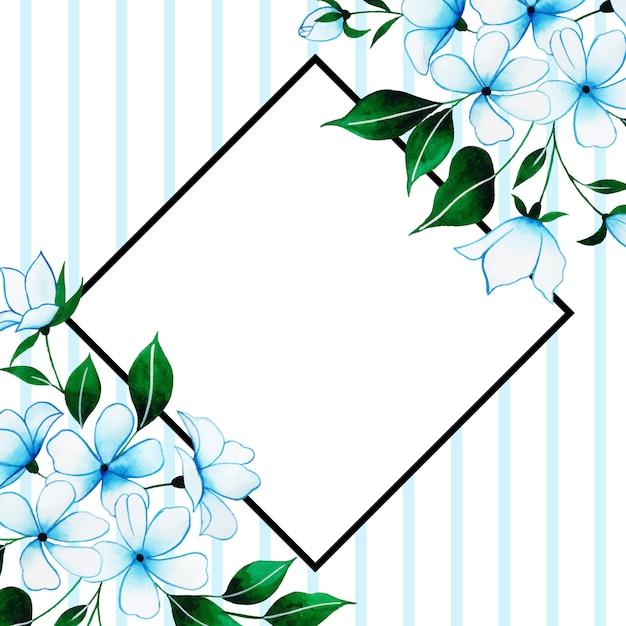 美しい水彩花のフレーム Premiumベクター