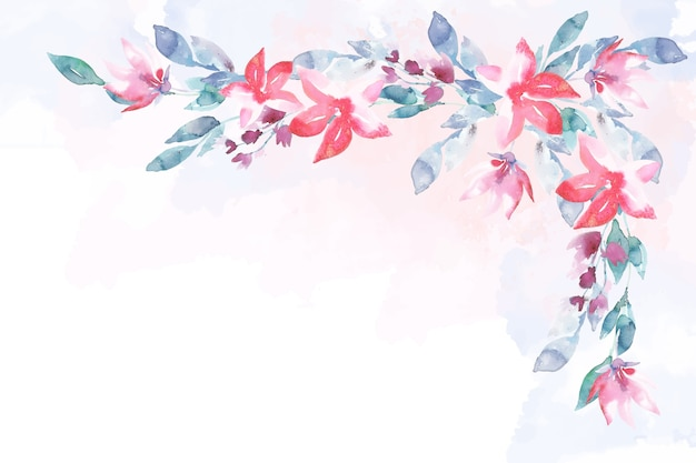 Beautiful watercolor flowers background Free Vector