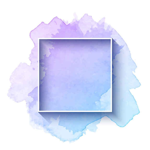 Beautiful watercolor frame Free Vector
