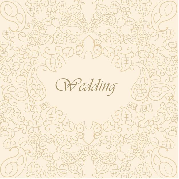 Ornamental wedding background vector | free download.