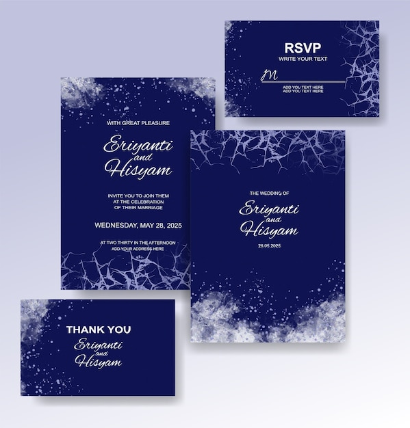 Beautiful wedding card watercolor background with splash Premium Vector