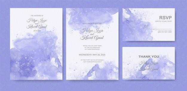 Beautiful wedding card watercolor background Premium Vector