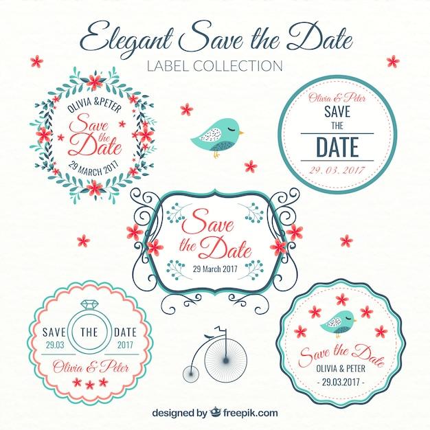 Beautiful wedding decoration stickers