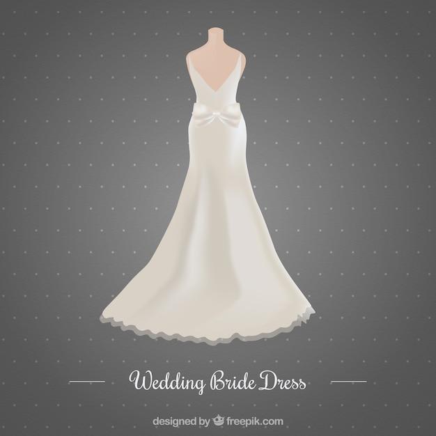 Beautiful Wedding Dress Vector