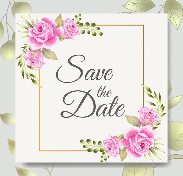 beautiful wedding invitation card design template vector