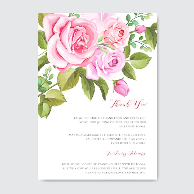 Beautiful wedding and invitation card template with floral and leaves frame Premium Vector