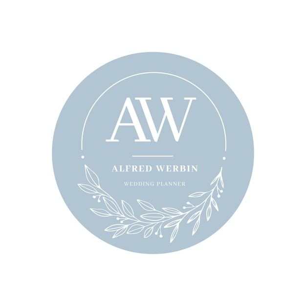 Красивый свадебный логотип в плоском дизайне Бесплатные векторы