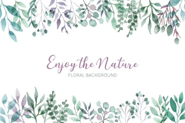 Beautiful wild floral background Free Vector