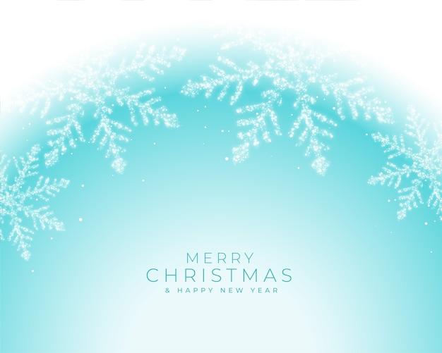 美しい冬の凍った雪のクリスマスの挨拶 無料ベクター
