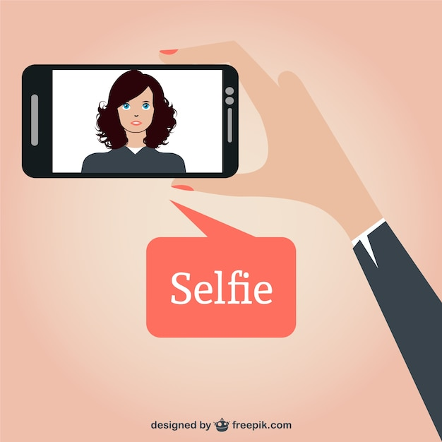 beautiful woman taking a selfie vector free download. Black Bedroom Furniture Sets. Home Design Ideas