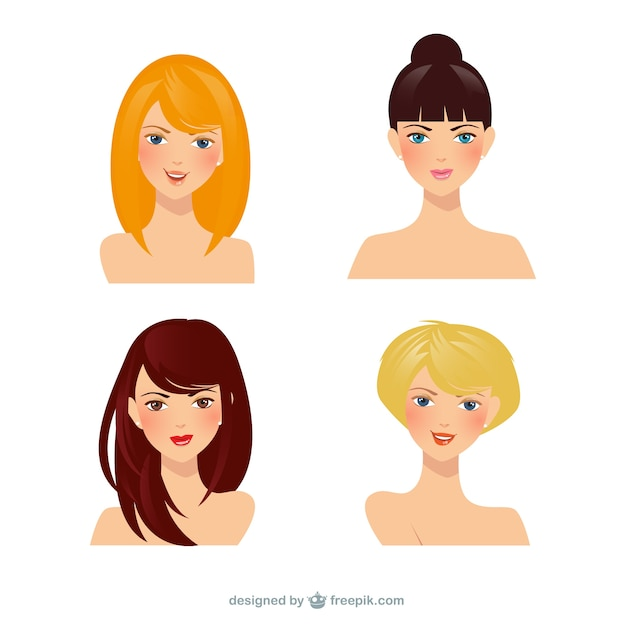 Download Shorter: Beautiful Women Vector