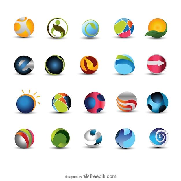 beautifully circular icon    vector Free Vector