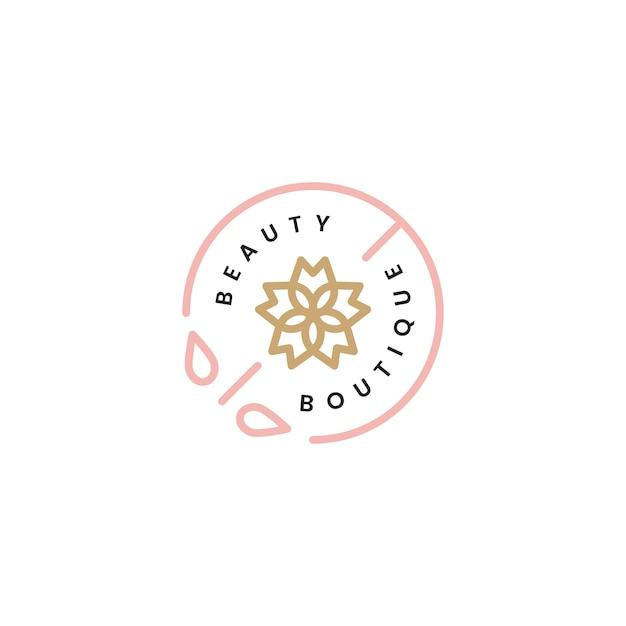 Beauty boutique logo design illustration Free Vector