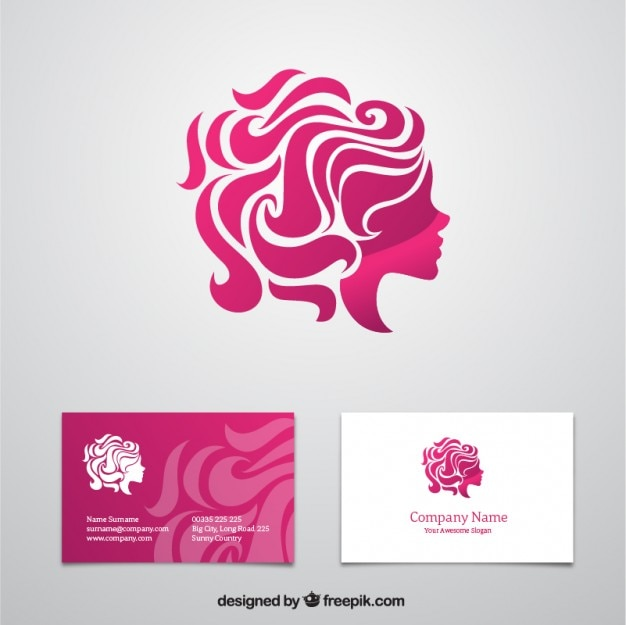 Beauty business card vector free download beauty business card free vector reheart Choice Image