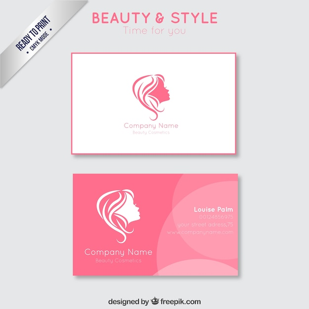 Beauty business card vector free download beauty business card free vector cheaphphosting Choice Image