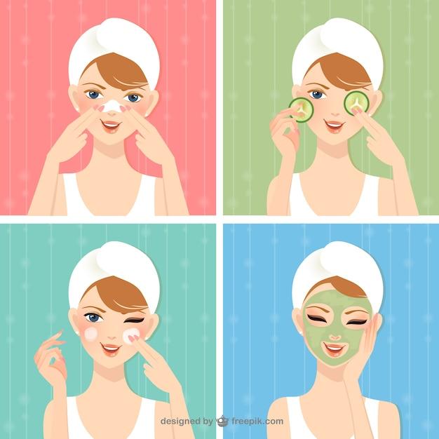 Beauty care Premium Vector