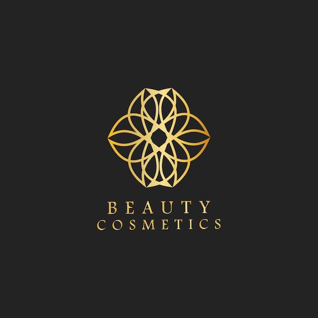Beauty cosmetics design logo vector Free Vector