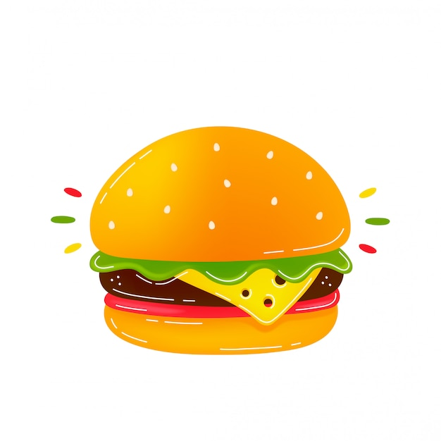 Салон вкусный бургер. Premium векторы