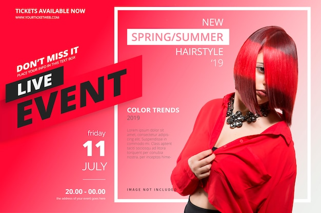 Beauty event poster template Free Vector