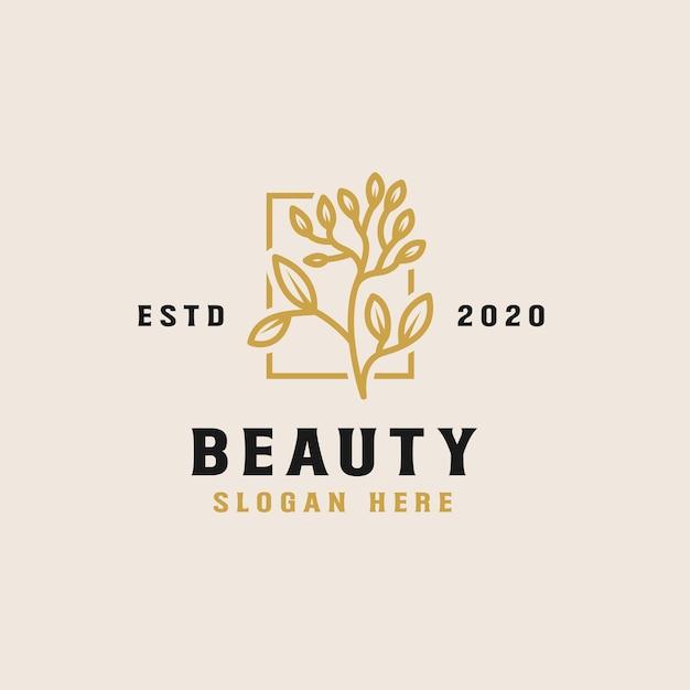 美容花のロゴのテンプレート Premiumベクター