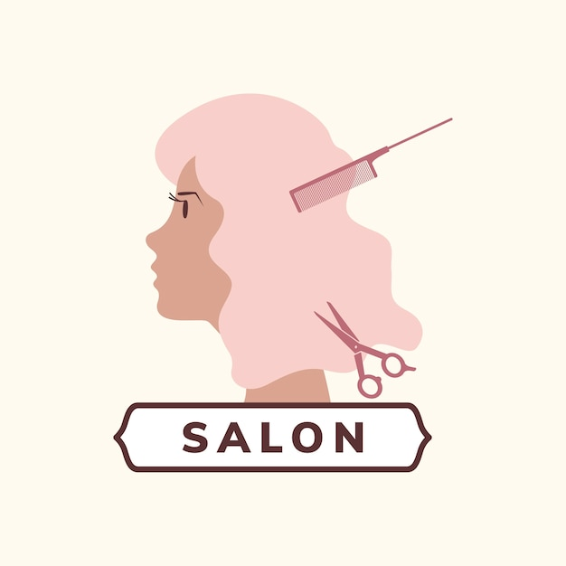 Beauty and hair salon icon Free Vector