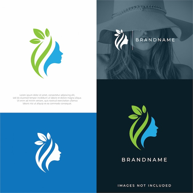 Beauty logo design template Premium Vector