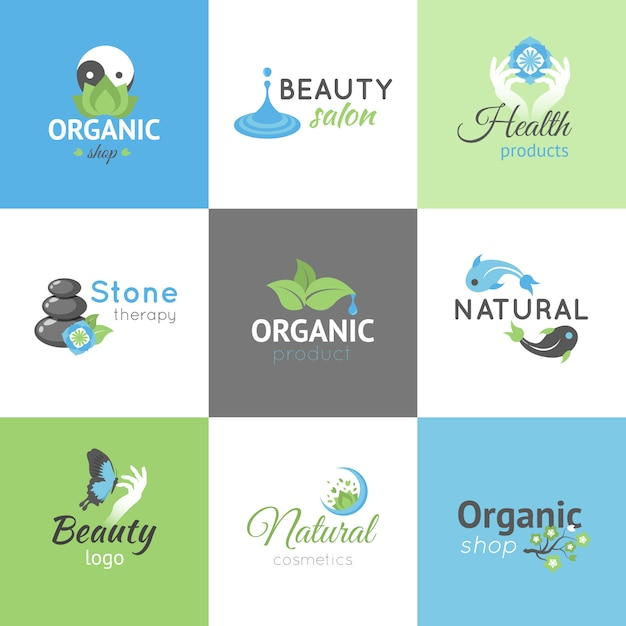 Beauty logos Free Vector