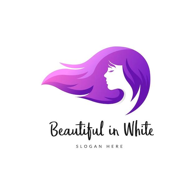 Beauty Long Hair Logo , Woman Hair Salon