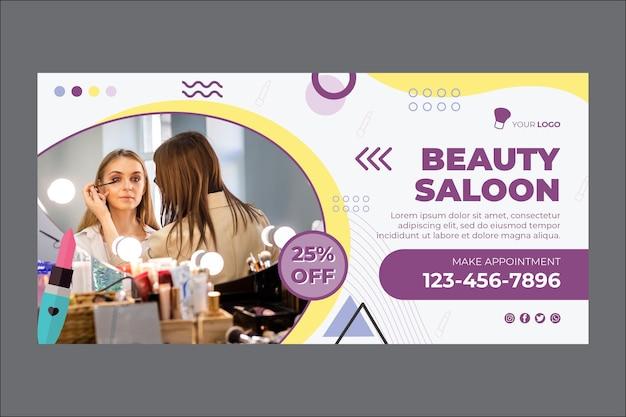 Modello di banner salone di bellezza Vettore gratuito