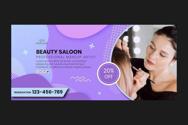 Modello web banner salone di bellezza Vettore gratuito