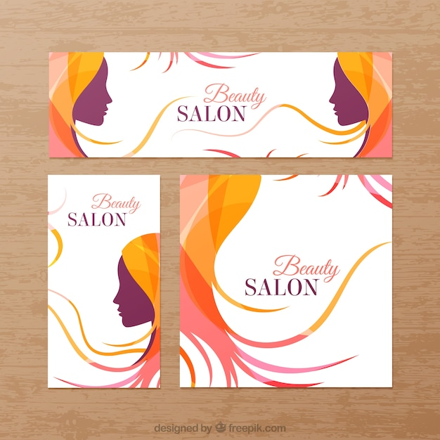Parlour Banner: Beauty Salon Banners Vector