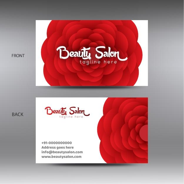 Beauty Salon Business Card Template Vector Premium Download