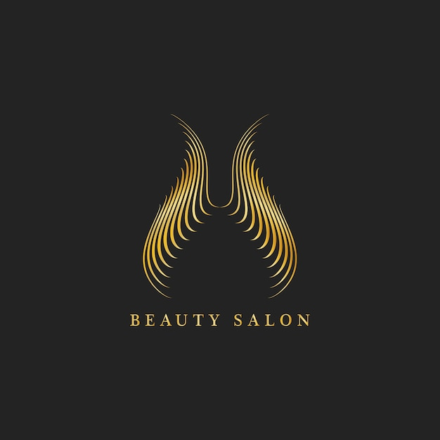 Beauty salon design logo vector Free Vector