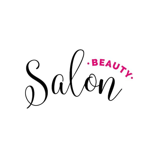 Beauty salon lettering for logo Premium Vector
