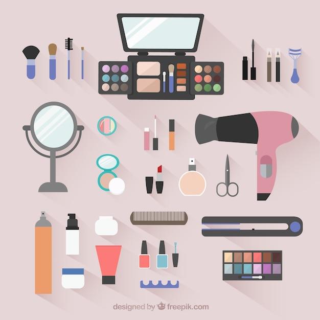 Beauty salon objects Free Vector