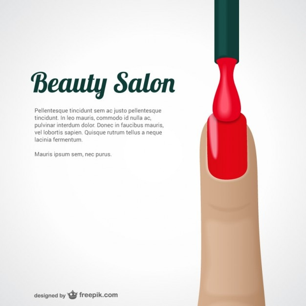 Beauty salon template vector | free download.