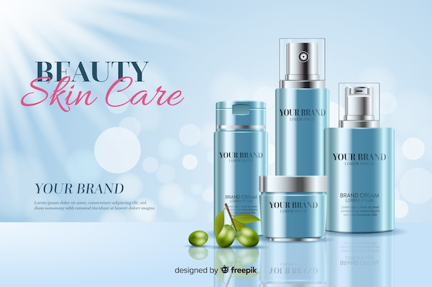 Beauty skin care background Free Vector